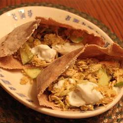How to cook Apple Curry Turkey Pita