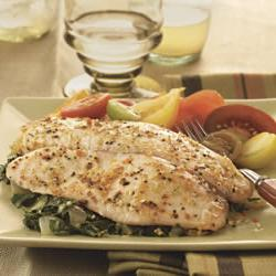 How to cook Baked Tilapia with Garlic and Herb Oil