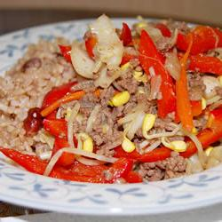 How to cook Black Pepper Beef and Cabbage Stir Fry