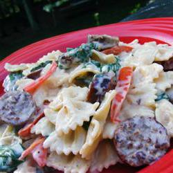 How to cook Bow Tie Pasta with Sausage and Spinach