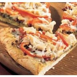 How to cook Chicken Pesto Pizza with Roasted Red Peppers and Asparagus