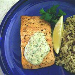 How to cook Grilled Salmon Fillets with a Lemon, Tarragon, and Garlic Sauce