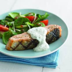 How to cook Grilled Salmon with Herb Sauce