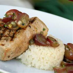 How to cook Grilled Tuna Steaks with Grape and Caper Salsa