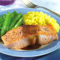 How to cook Salmon Fillets with Mustard Glaze