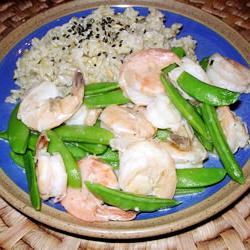 How to cook Stir-Fried Shrimp with Snow Peas and Ginger